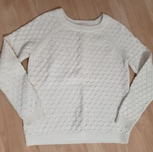 Old Navy White Sweater L